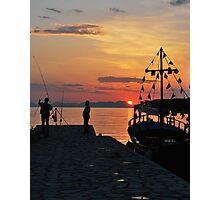 mellow harbour moment Photographic Print