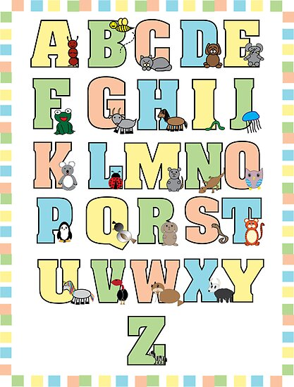 Animal Alphabet Poster by ValeriesGallery