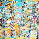 Birch Abstract by Mary Sedici
