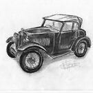 1934 Morris Minor - Classic Car by BigBlue222