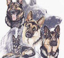 German Shepherd with Ghost by BarbBarcikKeith
