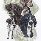 German Short-Haired Pointer with Ghost Image by BarbBarcikKeith