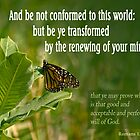 But Be Transformed ~ Romans 12:2 by Robin Clifton