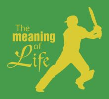 Cricket - the meaning of life by aussietees