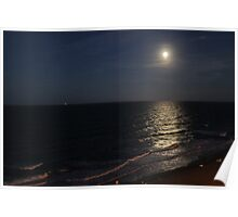 full moon over Virginia Beach Poster