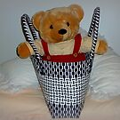 Teddy Bear in a Basket - Ready for a ride. by EdsMum