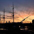 HMS Warrior - Portsmouth Dockyard by Sharon Bishop