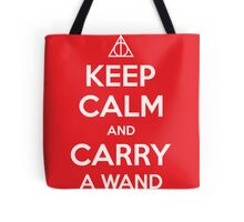 Keep Calm and Carry a Wand Tote Bag