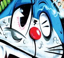 Stimpy cat graffiti, Melbourne by monsterplanet