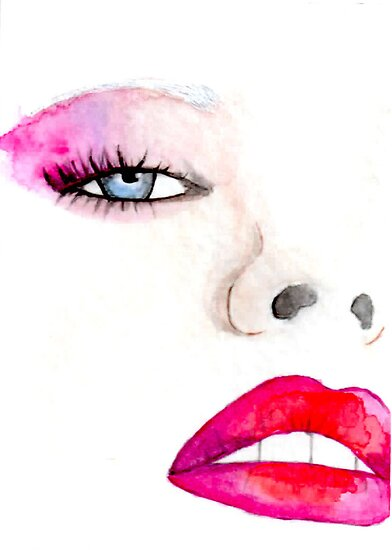 """""Faces of Fashion"" No.1 Fashion Illustration"" by Chelsea ..."
