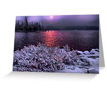 Big Lake Snow Storm Greeting Card