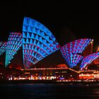 Opera House in blue & red by Michael Matthews