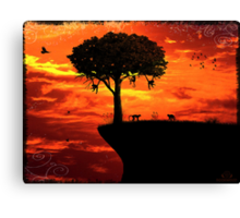 Settling in for the night Canvas Print