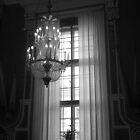 Crystal Chandelier & Window by Lucinda Walter