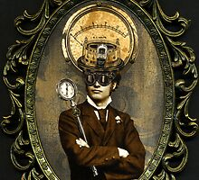 Steampunk Civil War Portrait: Silas by WinonaCookie