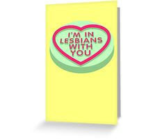 Candy Heart Pilgrim Greeting Card