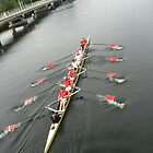 rowers on channel by LisaBeth