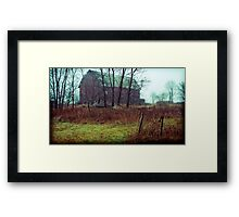 the trees are bending over Framed Print