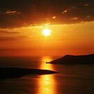 Santorini golden sunset by fotowagner