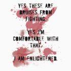 Fight Club - Bruises (Light Shirt) by TGIGreeny