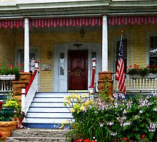 Porch With Front Yard Garden by Susan Savad
