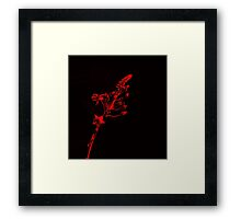 Glowing Red Flowers Framed Print