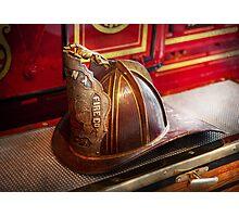 Fireman - Hat - Commander  Photographic Print