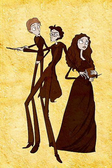 Tim Burton's Harry Potter by Nana Leonti