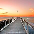 Sunrise on the Jetty - Wellington Point Qld by Beth  Wode