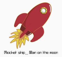 Rocket ship...Man on moon by mlapins