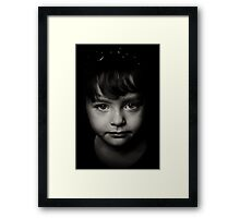The real meaning of enlightenment is to gaze with undimmed eyes on all darkness.  Framed Print