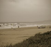 Stormy summer saturday at the beach  by harper white