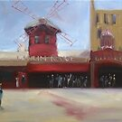 Day time at the Moulin Rouge by Tash  Luedi Art