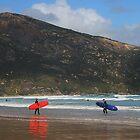 surfer at wilsons promontory by Ingrid Merrett