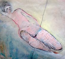 reclining nude by Brooke Wandall