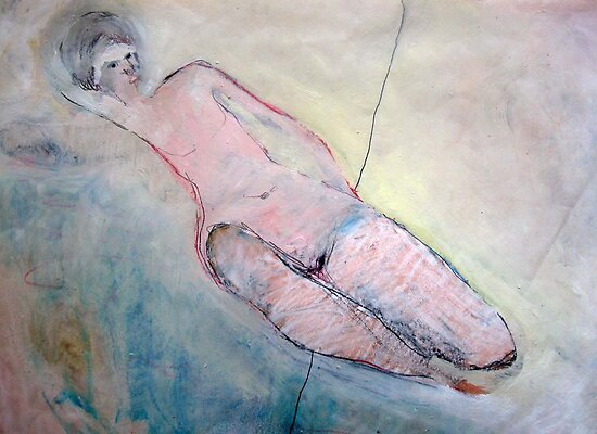 reclining nude by VedaArts