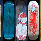 Skateboard decks, 2010 by Aimee Cozza