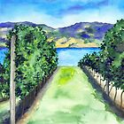 Between the Vines - Landscape Watercolour by Brazen Edwards