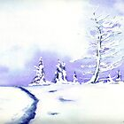 Crystal Mountain - Landscape Watercolour by Brazen Edwards-Hager