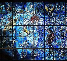 Chagall Stained Glass  by Alberto  DeJesus