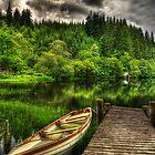Loch Ard Jetty & Boat by Don Alexander Lumsden (Echo7)