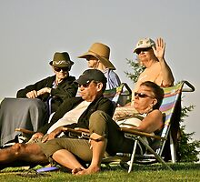 Summer Concert Goers - Enjoying a Summer Eve by Jack McCabe