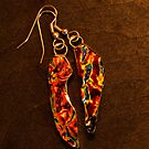 Dichroic Glass - Orange Lava by Amy Matsumoto