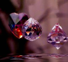 Crystals Floating by Veronica Schultz