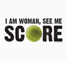 See Me Score - Tennis Black Text by LTDesignStudio