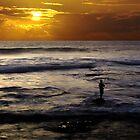 Sunset Fishing, Kalbarri, Western Australia by Julia Harwood