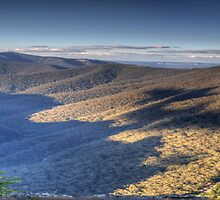 Majesty - (35 Exposure Panorama) - Kanangra Walls Lookout, Blue Mountains World Heritage Area - The HDR Experience by Philip Johnson