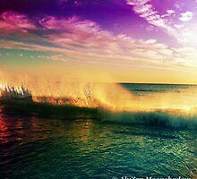 Purple Sunset with Surf by AlyZen