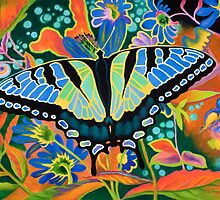 """Swallowtail"" - Flower Garden Abstract by Rainelle  Meridith"