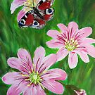 flowers and the butterfly by maggie326